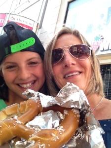 Gotta love NYC pretzels